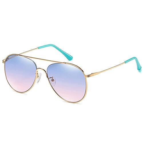 Yiph-Sunglass Sonnenbrillen Mode Kinder Topnotch Komfortable polarisierte Legierung Linsen Sonnenbrille (Farbe : Lila)