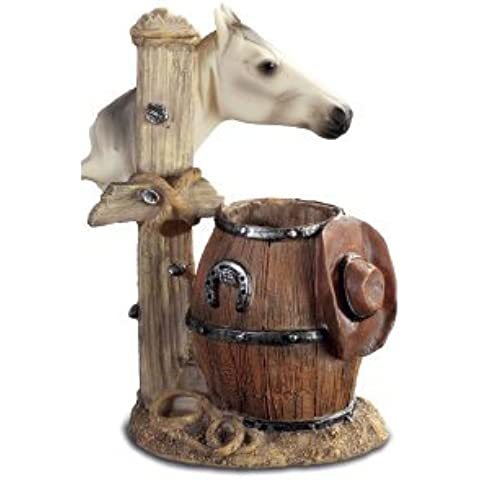 Novelty Barrel occidentale e cavallo penna pot