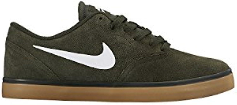 Nike Men's SB Check Skateboarding Shoe, Sequoia/Gum Light Brown/White, 42.5 D(M) EU/8 D(M) UK  -