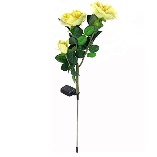 Hemore - Luces LED de jardín, Impermeables, 3 Rosas, Funciona con energía...