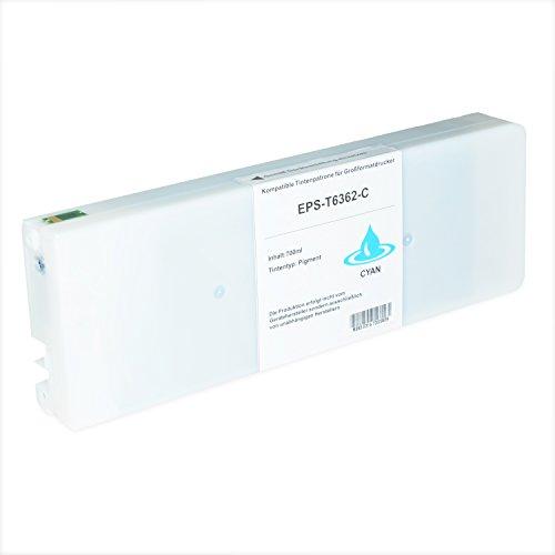 Preisvergleich Produktbild Tintenpatrone für Epson Stylus T6362 C13T636200 Pro WT 7700 7890 7900 9700 9890 9900 SpectroProofer UV Series EFI - Cyan 700ml