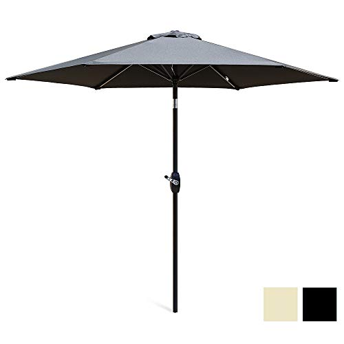 Patio Parasols Garden & Patio 2.4 m Metal Patio Umbrella Tilt Crank Garden Parasol Market Round 8 ft UV 30+