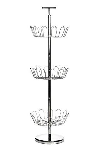 Premier Housewares Range-chaussures tournant 3 niveaux Chrome 98 x 29 cm