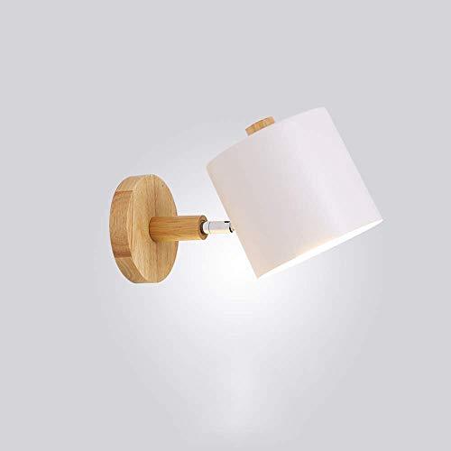 Applique Nordique Solide Bois Chambre Mur Lampe Moderne Minimaliste Fond Lampe Murale Salon Créative Allée Lampes De Chevet (Q)