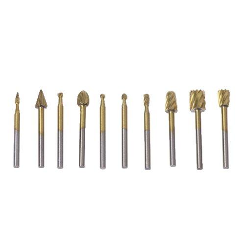 Jenor 10 Stück Rotary Feile Gravurschneider Holz Werkzeug Elektroschleifen Polierkopf -
