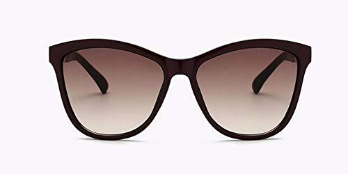 Sonnenbrille Frauen Square Big Frame Sonnenbrille Sonnenbrille Elegante Hündin Brillen Farben Uv400 (Schwarzen Und Weißen Rahmen Graue Linse)