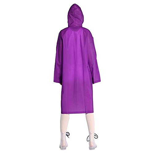 ColorRain Umwelt-freundliche EVA Frauen Mode Lässige Regenmantel Lila