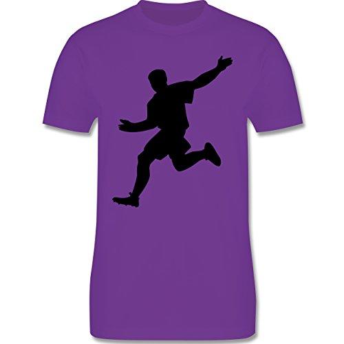 Fußball - Fußball - Herren Premium T-Shirt Lila