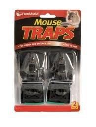 Pestshield Lot de 2 attrape-souris utilisation simple à l'intérieur comme à l'extérieur