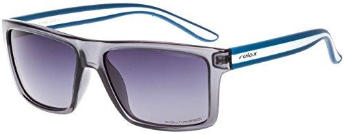 Sonnenbrille Damen Herren Unisex RELAX Icaria R2306/Polarisierte Gläser (Grau / Rauch Gradient POLARISIERTE R2306C)