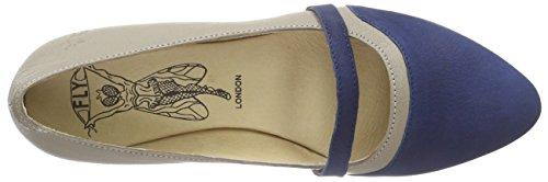 Fly London - Mino630fly, sandali punta chiusa Donna Multicolore (Mehrfarbig (BLUE/MUSHROOM 003))