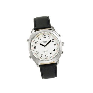 Sprechende Armbanduhr Men Silver/White