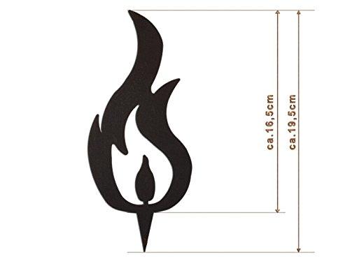 Edelrost Deko-Flamme (Drei Spitzen) Größe L/ 19,5cm: Wunderschöner Deko-Artikel für Ihre Wohnung - Passende Halterung als separater Artikel erhältlich - Weihnachts-Deko von Manufakt-Design