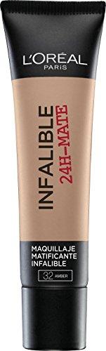 L'Oréal Make Up Designer Paris Infallible 24H-Mat Fondotinta Lunga Tenuta, 32 Ambre