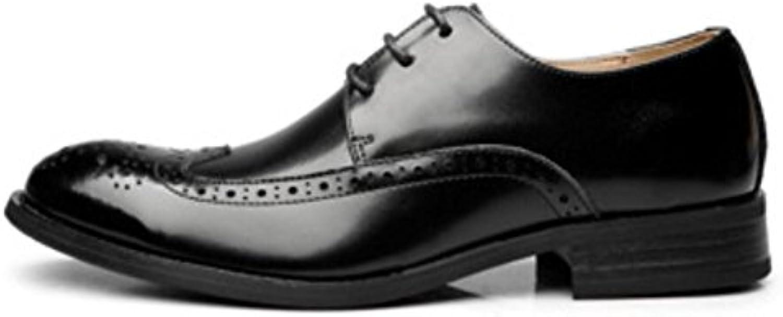 Primavera Vestido Hombres Zapatos Hechos A Mano Negocios Zapatos De Cuero para Hombres