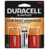 Duracell Quantum Alkaline 9-Volt Batteries, Pack Of 2