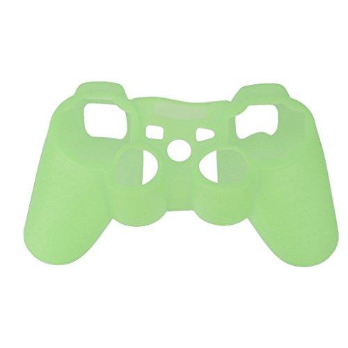 Preisvergleich Produktbild Leucht Haut Schutz Case Schutz Hülle Gehäuse Kasten Abdeckung Tasche für Playstation Ps3 Controller - Grün