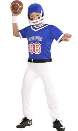 Imagen de disfraz de jugador de rugby azul para niño  11 13 años