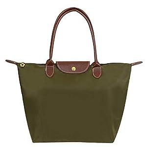 EXQULEG Tragetasche, Schultertaschen Damen Wasserdichte Handtaschen aus Nylon Umhaengetasche Strand Tasche