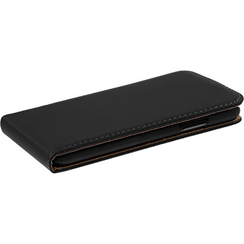 Copertura di cuoio artificiale per Apple iPhone X - Flip-Case bianco - Cover PhoneNatic Case Nero