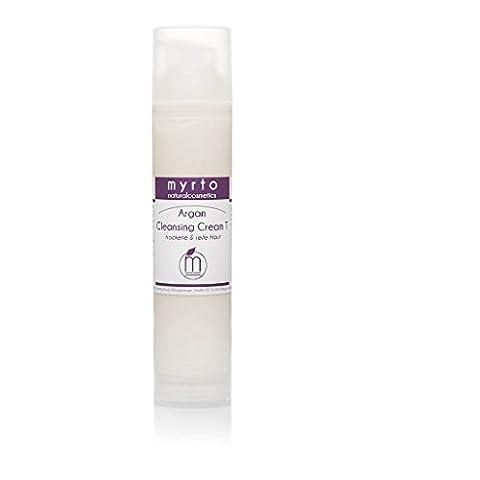myrto-naturalcosmetics - Bio Argan Cleansing Cream T - Reinigungscreme für trockene & reife Haut | ohne Duftstoffe ✔ ohne Alkohol ✔ tensidfrei ✔– 100ml