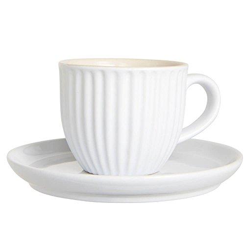 Ib Laursen Mynte Espressotasse mit Untertasse Pure white