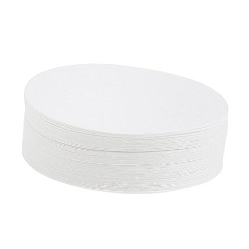 Papier Trichter (MagiDeal 100 Stücke Rund Filperpapier 7cm 9cm 11cm12.5cm 15cm Durchmesser Aschefreie Filter Papier Apertur 30-50um für Labor - Weiß, 7 cm)