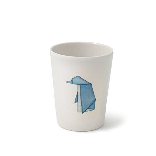 CARTAFFINI ' Schnapsglas Freunde Origami-Pinguine aus Melamin, Ø 6,4cm/h 8,0cm, Fassungsvermögen 180ml-Farbe: weiß Optische