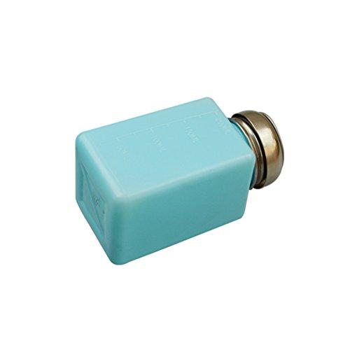 BESTOMZ Bouteille de vernis à ongles Distributeur Vide pour Stockage Liquide Alcool Manucure Maquillage 200 ML(Bleu)