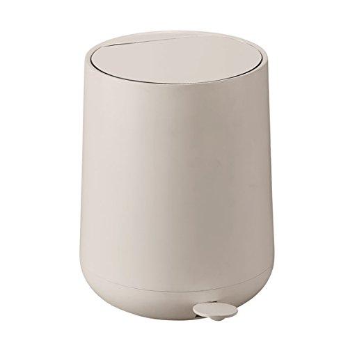 ZONE Pedal-Eimer NOVA, Kunststoff mit Soft-Touch, cream, ca. 30 cm H | ZO-371007 | 5708760641734