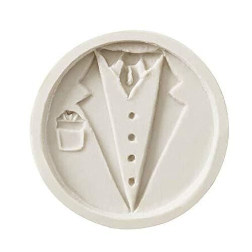 ZHOUBA Silikonform für Hochzeit, Braut, Bräutigam Anzug, Fondant, Kuchen, DIY Dekorieren Werkzeug...