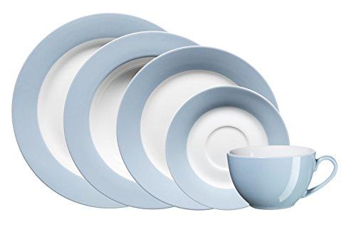 Mäser, Serie Kitchen Time, Kombiservice 30-teilig, Porzellan Geschirr für 6 Personen, in der Farbe Blau