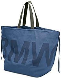 404a655f4669 BMW Genuine Active Bag Blue Handbag Cotton Canvas Fastening Straps  80222446012