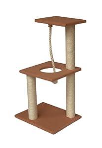 Cat Scratching Post, Cat Scratcher Activity Centre - Rope Tree 82cm by TIA Pet World