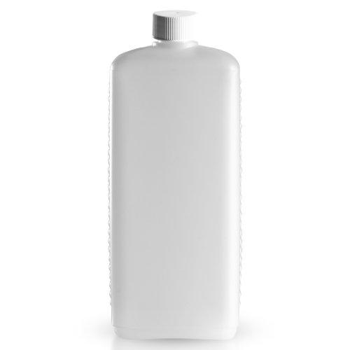 48 x 1000ml Lotionsflasche eckig weiss aus PE inkl. Schraubverschluss weiss *** Lotionsflaschen, Cremeflasche, Plastikflasche, Kunststoffflasche, Plastikflaschen, Kunststoffflaschen, Cremeflaschen ***
