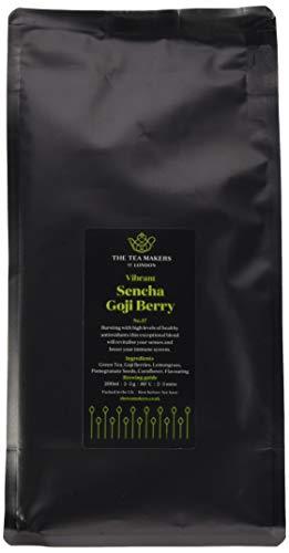 The Tea Makers of London Sencha Gojibeeren Granatapfel Tee 250g von prämiertem Teeshop Geschenkidee für Freundin