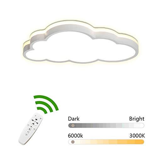 LED Deckenleuchte Cloud Top Light Kinder Deckenleuchte, Azanaz moderne Cartoon Kreativleuchte, geeignet für Jungen, Mädchen, Kinderzimmer - Spielzimmer. (360 ° Licht) (Weiß - Remote-Dimmen) Spot Remote