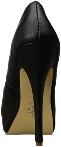 Pin Up Couture BELLA-30 Blk Faux Leather