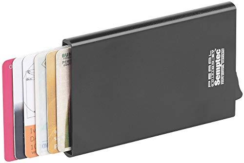 Semptec Urban Survival Technology Kreditkartenetui: RFID-Kartenetui, Aluminium, Auswurf-Mechanismus, für EC-Karten u.v.m. (RFID Etui) -