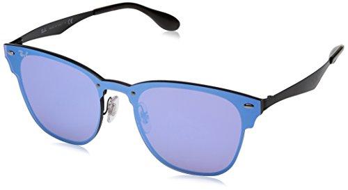 Ray-Ban Rayban Unisex-Erwachsene Sonnenbrille 3576n, Demi Glos Black/Darkvioletmirrorblue, 41