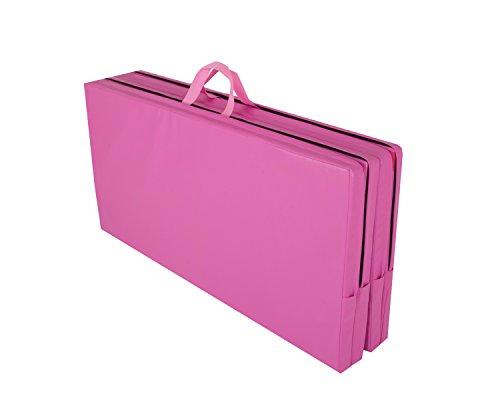 Cannons UK Klappbare Gymnastikmatte, 244 x 122 x 5cm, Pink