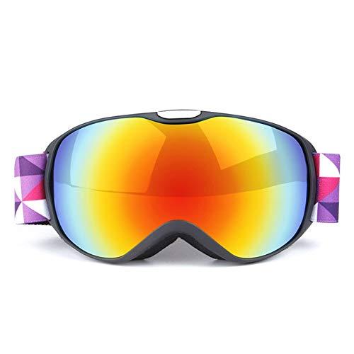 Sonnenbrille Für Brillenträger Doppelte Anti Fog Skibrille Für Kinder Im Freien Black Red Kinder