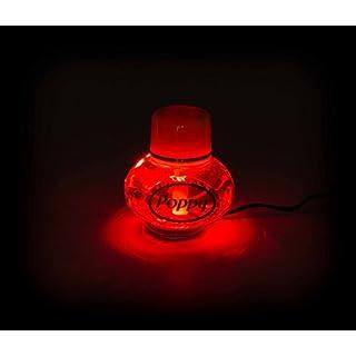 Lufterfrischer Poppy mit LED Beleuchtung 24V in rot oder weiß, Inhalt 150 ml, lieferbar in 5 Duftnoten (Rot Duft Vanille)