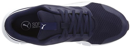 Puma Unisex-Erwachsene Flexracer Low-Top, 38 EU Blau (Peacoat-Puma White 23)