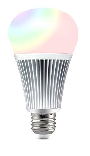 LIGHTEU®, 9W E27 Nouveau design sans fil E27 9W 2.4G RF télécommande RGBW + CCT LED ampoules, 850LM, fut012