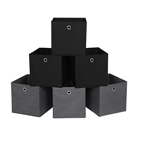 SONGMICS Juego de 6 Cajas de Almacenamiento
