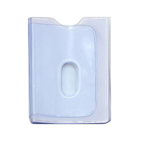 Kartenmäppchen für Kreditkarten, weiches Echtleder, mit entnehmbaren Kunststoff-Fächern, Schwarz - REPLACEMENT PLASTIC CARD INSERTS