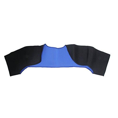 Schulter-maschine (Latinaric Schwarz und Blau Sport Schulter Schutz Schulterbandage Schulterschutz Schulterstütze)