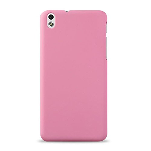 WOW Imagine(TM) Rubberised Matte Hard Case Back Cover For HTC DESIRE 816 / 816G (Baby Pink)