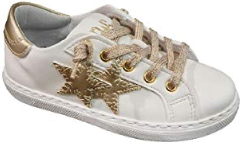 Two Two Two Stars scarpe da ginnastica Bassa in Pelle con Particolari oro | Diversi stili e stili  724d87